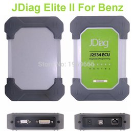 Wholesale Mercedes Star Sd Connect - Wholesale-Wifi JDiag Elite II For Mercedes Benz OBDII J2534 Diagnostic ECU Coding Tool OBD2 Scanner Replace MB Star SD Connect Compact C4