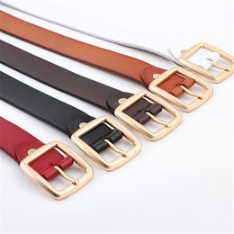 88dd2b3de YJSFG CASA de Couro Womens cinto Largo Cintura Cintas Femininas Quadrado  pino de metal cintos de fivela para as mulheres Senhoras Cinto