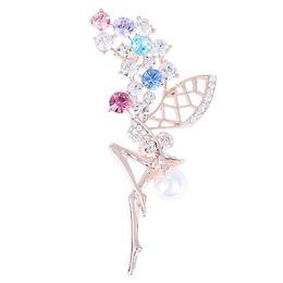Broches fada on-line-Cristal de fadas Pin Broche Broches Emblema Do Esmalte De Metal Pin Broche Mulheres Jóias de Luxo Fontes Do Partido Presentes de Natal