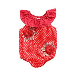 Wholesale babys boys - 2018 New Summer Baby Girl Romper Hot Sale Newborn Babys Girl Unicorn Dot Flower Romper Sleeveless Jumpsuit Baby Clothing