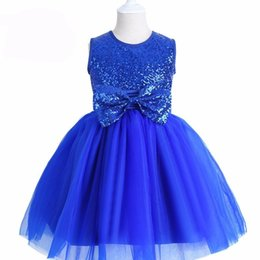 Wholesale Valentine Butterflies - Girls Sequins Dress Children Show Dance Performance Butterfly Bow Party Robe Princess Brand Valentines Gift 3-12 Years Old Big Girl