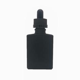 vapor líquido por atacado Desconto Garrafas de vidro quadradas pretas matte vazias de 15ml 30ml com os conta-gotas de vidro de Piepette para o líquido, líquido, empacotamento cosmético do suco