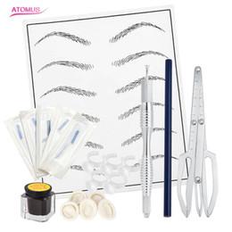 kits de práctica Rebajas Práctico maquillaje Microblading Kit de tatuaje de cejas para tatuaje permanente Regla de ceja Agujas Ojo Pigmento de la piel de la práctica