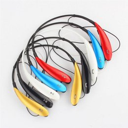 Wholesale Mobile Bluetooth Earpiece - 2018 Hot sell Bluetooth Headphones with Microphone Wireless Stereo Headset Sports Sweatproof Earphone Earbuds Earpiece for Mobile Phone