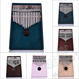 mikrofone kinder großhandel Rabatt 17 Schlüssel Kalimba African Solid Mahagoni Holz Daumen Piano Finger
