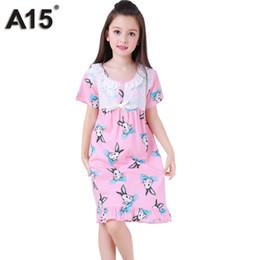 Wholesale Toddler Pijamas - Wholesale-A15 Pyjamas Kids Girls Toddler Sleepwear for Girl Lace Nightgown Sleepwear Dress Pijamas Summer Teenage Pajamas 10 12 14 16 Year