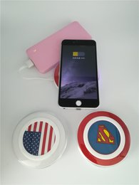 Wholesale Padded Dash - A1 Qi Wireless Charger For Iphone X Iphone8 Plus 7 Fast Wireless Charging Pad America Flag Dash Charger Retail Package Free DHL