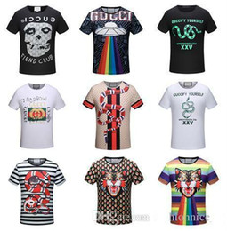 Wholesale Tiger Shirts For Men - 2018 New T-shirt Fashion Tiger Printed Men's Casual Summer Students Short Sleeve Tops Tees Shirt For Men