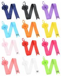 Wholesale comb holder - 12pcs Design Girls Solid Color Hair Bow Holder Handmade Girl Barrette Holder Princcess's Hair Accessories HD770
