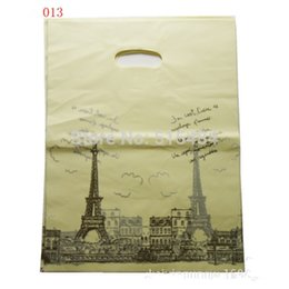 Wholesale Boutiques Paper Bags - Wholesale- Wedding Favors and Gifts 100pcs 15x20cm Tower Gift Bags Plastic Boutique Pouches Shopping Gift Package Bag Wedding Decoration