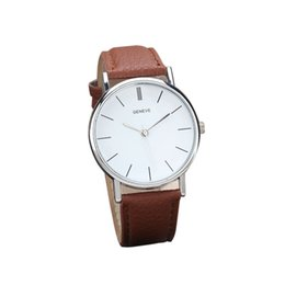 Wholesale Ladies Vintage Gold Watches - 2016 New Vintage Womens Mens Watch Retro Design Leather Band Analog Alloy Quartz Wrist Watches Relogio Ladies Watchs