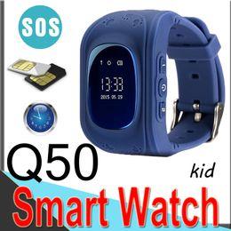 i bambini guardano il telefono Sconti Q50 Kids LBS Tracker Bambini Smart Watch Telefono SIM Quad Band GSM Sicuro Chiamata SOS Q80 Android IOS Sim Card EQ5 50 pacchetti