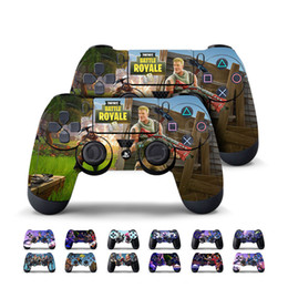 Wholesale gift toys - 13 color Game Fortnite Battle Royal PS4 Slim Skin Sticker For PlayStation hand Controllers Decal Vinyl Kids Toys Gift MMA190