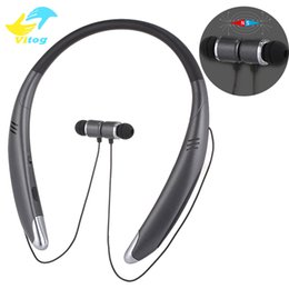 Wholesale Time Headset - V8 Bluetooth Headphones Neckband Magnetic Sports Headset Wireless Bluetooth earphones Stereo Speaker for iPhone Samsung 5 hours working time