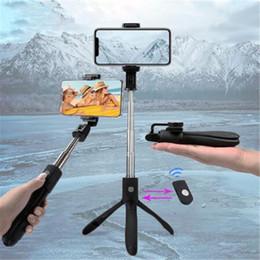 plastik-selbststöcke Rabatt K06 Handheld ausziehbares Stativ Einbeinstativ Kamera Telefon Selfie Stick mit Rückspiegel Bluetooth Remote Shutter Handy-Stick