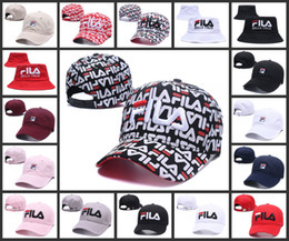 Wholesale hat running - FILA strapback snapback Embroidery hats Men women Snapback Hat Women Ball Caps Top Quality