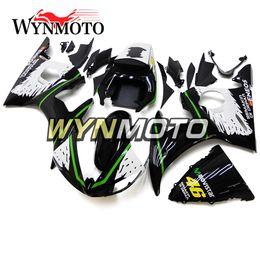 2019 zx14r carrinhos de abs Motocicleta Verde Preto Branco 2003-2004 R6 Injeção Completa ABS Carenagens Para Yamaha YZF600 R6 YZF-600 R6 / R6S '06 -09 2003 2004 ABS Carroçaria