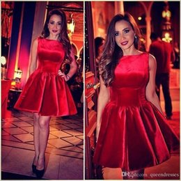 short vintage special occasion dresses Coupons - Sexy Red Cocktail Dresses Short Jewel Cap Sleeve A Line Velvet Mini Evening Gowns Formal Women Special Occasion Homecoming Party Dresses