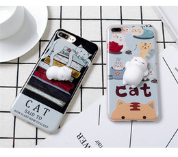 Wholesale Cute Silicone Lg Phone Cases - Cute Mobile Phone Shell Soft Silicone Stereo Cat Handset Case for iPhone X 8 7 Fancy Cat Paw Hot Pink Decompression Phone Cover