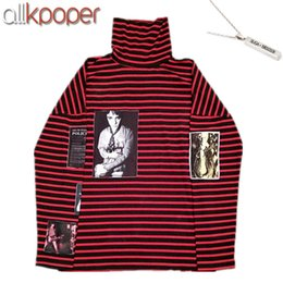 Wholesale kpop gd - Allkpoper Kpop Bts Suga Sweatershirt Bigbang Gd G -Dragon Sweatershirts Pullover Striped Hoodie Jumper Gift (Bts Suga Necklace )