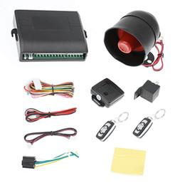 2019 12v alarmes Système d'alarme de voiture universel 12V système de protection de sécurité d'alarme véhicule cambrioleur à sens unique avec 2 cambrioleur automatique de contrôle à distance nouveau promotion 12v alarmes