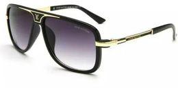 New Fashion Ocean Occhiali da sole per le donne Marca Metal Frame Yellow Occhiali da sole Pink Lens Occhiali da sole Occhiali gialli Aviator 9239 da