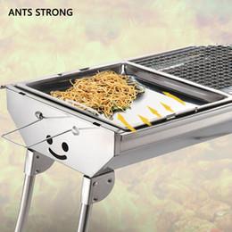poêles à frire en acier Promotion ANTS STRONG santé durable barbecue poêle / en acier inoxydable barbecue antiadhésive poêle cuisinière plateau grille grille accessoires