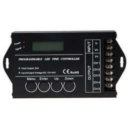 Wholesale Led Time Controller - TC421 WiFi Time Programmable LED Controller Dimmer DC12-24V RGB Aquarium Lighting Timer Input 5 Channels For Led Strip
