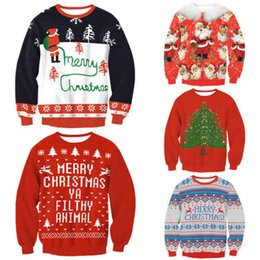 santa sweater Promo Codes - New 5 Stylish Unisex Men Women Santa Xmas Christmas Novelty Ugly RED Retro Jumper Warm Sweater S18100803