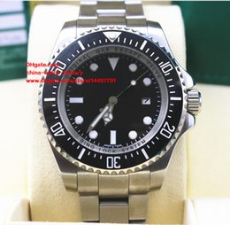 Wholesale Sea Dweller 44mm - 2 Color Luxury High Quality Watch 44mm Sea-Dweller 116660 D-Blue Black Ceramic Stainless Steel Asia 2813 Movement Automatic Mens Watches