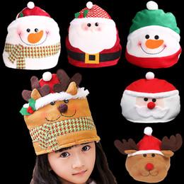 2019 sombreros de alegría Decoración de Navidad Kid Cheer Christmas Hat Niños Santa Claus Reindeer Snowman Party Decoración linda rebajas sombreros de alegría