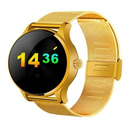 Wholesale Phone Call Tracking - K88H Smart Watch Track Wristwatch Bluetooth Heart Rate Monitor Pedometer Dialing Smartwatch Phone For Android IOS