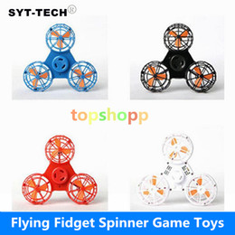 Wholesale Great Flying - Fidget Spinner Hand Flying Fidget Spinner game Flying Spinning Top Toy For Autism Anxiety Stress Release Toy Great funny Gift Latest Fashion