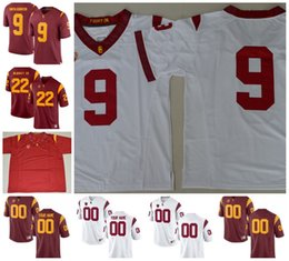 4eb88f13e13 Custom USC Trojans College Football Any Name Number Personalized #5 42 32  Simpson #14 Darnold 55 Seau College Football Jersey White Red cheap usc  football ...