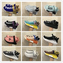 Wholesale Trail Outdoor - 2018 New Arrival NMD Trail TR Human Race Boost Pharrell Williams X Casual Running Shoes for Mens Women NMDs R1 PW HU Sports Sneakers 36-46