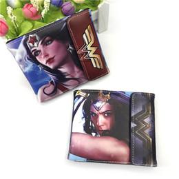Wholesale personalized girls bag - New Wonder Woman Anime Wallet Fashion Cartoon Superwomen Purse Super Hero Money Bag Personalized For Teens Girl Student