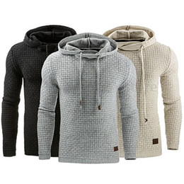Wholesale Clothing Large Sizes - Wholesale- LNRRABC Fashion Autumn Winter Men Sweatshirts Hoodies Jumper Outwear Large Size Hoody Hooded Warm Jacquard Clothing