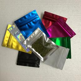 Argentina 300pcs / Lot 7.5 * 10cm color del papel de aluminio del sello auto Zip Lock bolsa de envases de plástico para la merienda de almacenamiento de alimentos Claro Mylar bolsitas Suministro