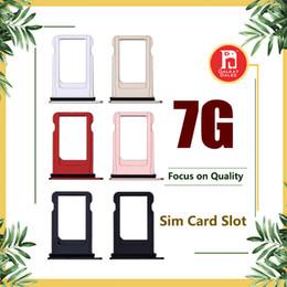 Сим-лотки онлайн-Sim-лоток для Apple iPhone 7 7G Замена слота для лотка для SIM-карты Черный Jet Black Золото Розовое золото Silver Color