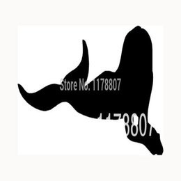Wholesale Mermaids Decals - HotMeiNi Wholesale 20pcs lot Mermaid Sticker Sexy Vinyl Decal For Reflector Funny JDM Auto SUV Laptop Motorcycle