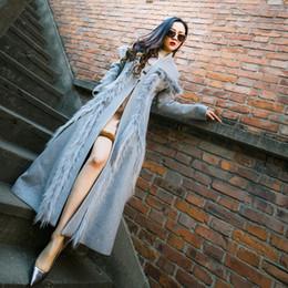 Wholesale Woollen Dresses - Autumn jackets And Winter Suit-dress Fashion Tops Self-cultivation Women's Woolen Loose Coat Lengthen Fund Woollen Overcoat Woman On Sale