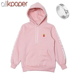Wholesale Kpop Rings - ALLKPOPER Kpop BTS JIN Cap Hoodie Sweatershirt Bangtan Boys Pink Color Pullover EXID HANI Sweatshirts bts Gift (Jin Finger Ring)