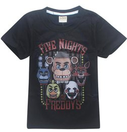 Wholesale latex clothes men - boys costume Cartoon Five Nights at Freddy's T-shirt 2 Styles FNAF Cosplay Freddy Fazbear Kids Clothing Cotton Shirts Boys Costume Tops