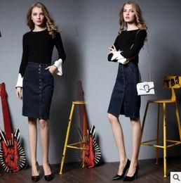 Wholesale Women Line Skirt - Women Shorts High Waisted Denim Shorts Fashion Summer Slim Hole Skirt Women Jeans Shorts Female Skirt