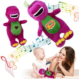 "Wholesale Dinosaur Plush - Singing Friends Dinosaur Barney 12"" I LOVE YOU Plush Doll Toy Gift For Kids 100pcs YYA1057"