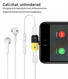 adaptateurs de courant alternatif européens Promotion Adaptateur audio pour iPhone X 8 Plus 7 6S Chargeur Aux Écouteurs Adaptateur Jack Stéréo Pour ApplePhone Accessoires