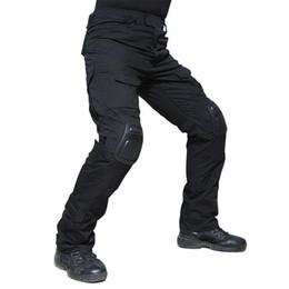Joelho pad carga calças on-line-Camuflagem Calças Táticas Militares Do Exército Uniforme Militar Calças Airsoft Paintball Combate Carga Calças Com Joelheiras