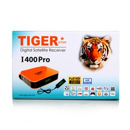 Wholesale Satellite Receiver Boxes - Hot Selling Tiger I400 PRO Full HD Satellite Receiver Box Color IN Orange