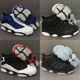 size 40 42ce2 a563c ring schuhe Rabatt sechs 6 Ringe Männer Basketball Schuhe Französisch Blau  Bulls Cool Grau Schwarz Silber