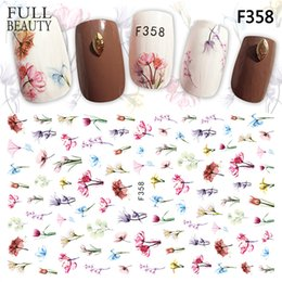 2019 цветок серебряный лист Full Beauty 1 Sheets New 2018 Charms Sticker Nails Art Flower Blooming 3D Adhesive Gold Silver Metallic Slider Nail Decals CHF дешево цветок серебряный лист